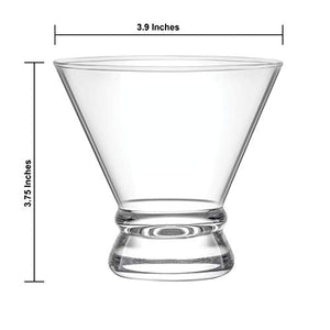 4-Piece Cocktail Glasses Set, 8-Ounce Martini Glasses - EK CHIC HOME