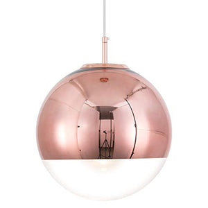 Adjustable Mirror Ball Pendant Light Rose Gold, 12 inches - EK CHIC HOME