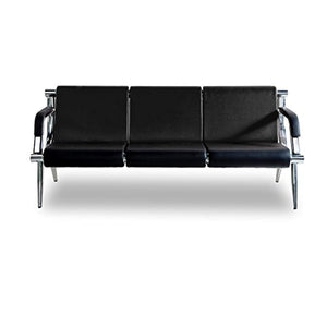 3-Seat Reception PU Leather Sofa - Waiting Room Office - EK CHIC HOME