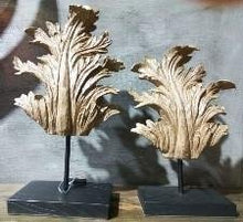 Load image into Gallery viewer, Rustic Leaf Sculpture on Stand Home Decor 2 Piece Set - EK CHIC HOME