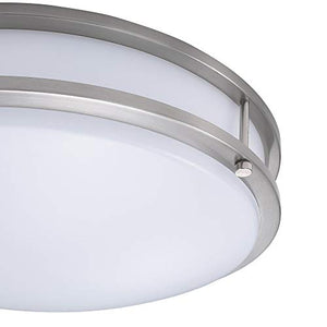 (6 Pack) 14-Inch Double Ring Dimmable LED Flush Mount Ceiling Light - EK CHIC HOME