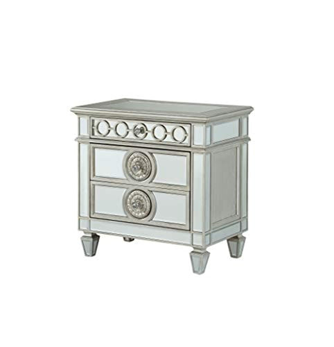Furniture Varian Nightstand, Mirrored