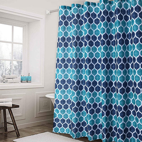Haperlare Fabric Shower Curtain, Cotton Blend Fabric for Bathroom Showers and Bathtubs - EK CHIC HOME