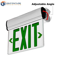 Load image into Gallery viewer, 2 Pack - UL Certified - Hardwired Green LED Edge Light Mirrored Singled Sided Exit Sign - EK CHIC HOME