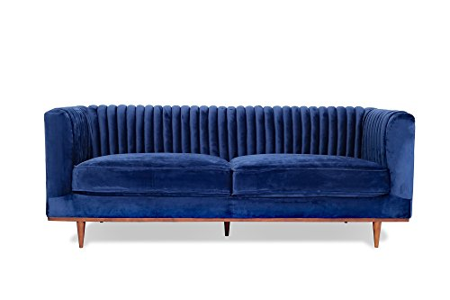 Luxury Midcentury Modern Sofa Blue - EK CHIC HOME