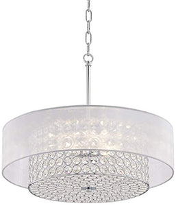 "Crystal Raindrop Chandelier Lighting Flush Mount LED Ceiling Light Fixture Pendant Lamp H6"" W20"" - EK CHIC HOME"