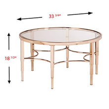 Load image into Gallery viewer, Thessaly Cocktail Table, Metallic Gold Finish - EK CHIC HOME