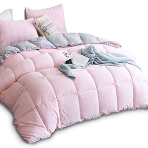 All Season Down Alternative Quilted Comforter Set with Sham(s) - EK CHIC HOME