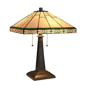 Tiffany Mission Design 2-Light Blackish Bronze Table Lamp - EK CHIC HOME