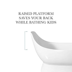 "67"" Modern Oval A Bathtub Sloped Reclining Pedestal Freestanding White - EK CHIC HOME"
