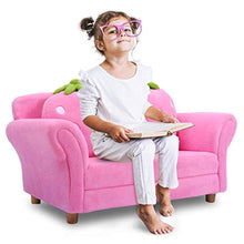 Load image into Gallery viewer, Children Sofa, Kids Couch Armrest Chair, Upholstered Living Room Furniture, Lounge Bed - EK CHIC HOME