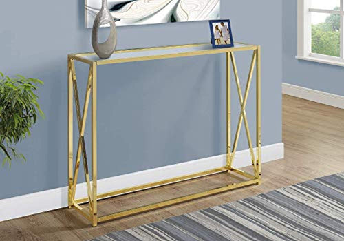CHIC Accent, Console Table, Gold - EK CHIC HOME