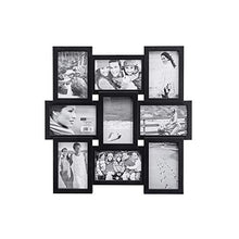 Load image into Gallery viewer, Chic Black 4x6 9-Opening Collage Picture Frame - EK CHIC HOME