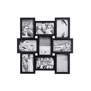 Chic Black 4x6 9-Opening Collage Picture Frame - EK CHIC HOME