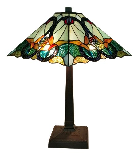 Tiffany Style Multicolored Mission Table Lamp, 23 inch High - EK CHIC HOME
