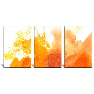 "3 Panel Canvas Wall Art - Watercolor Painting - Ready to Hang - 16""x24"" x 3 Panels - EK CHIC HOME"