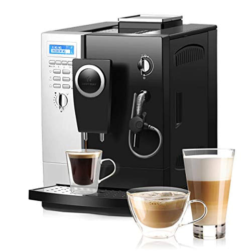 Super Automatic Espresso Machine-(Silver+ Black) - EK CHIC HOME