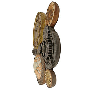 Luxury Toscano Gears of Time Sculptural Wall Clock - EK CHIC HOME