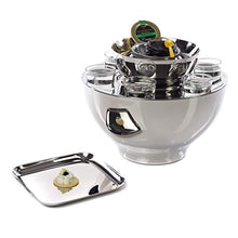 Load image into Gallery viewer, Vienna Stainless Steel 6 Shot Glass Set and Caviar Serving Bowl - EK CHIC HOME