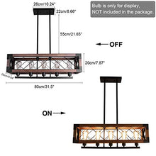 Load image into Gallery viewer, Hanging Fixture Retro Ceiling Light, Brown - EK CHIC HOME