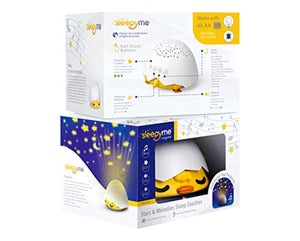 White Noise Sound Machine & Smart Sleep Soother. Star Projector in 3 Colors - EK CHIC HOME