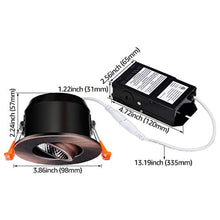 Load image into Gallery viewer, 3 Inch LED Dimmable Recessed Light with J-Box-Pack of 6 - EK CHIC HOME