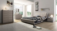 Load image into Gallery viewer, Victoria Leather Contemporary Platform Bed - EK CHIC HOME