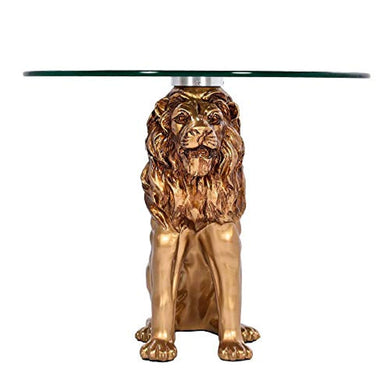 LION CONSIGLIERE END Table - EK CHIC HOME