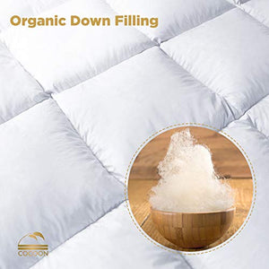 Cocoon Luxury Real Organic California King Down Comforter King Cali Size - EK CHIC HOME