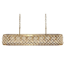 Load image into Gallery viewer, Cassiel Rectangular Crystal Chandelier, Brass - 38.5 inches - EK CHIC HOME