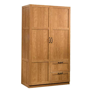 "Storage Cabinet L: 40.00"" x W: 19.45"" x H: 71.10"" Highland Oak - EK CHIC HOME"