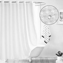 "Load image into Gallery viewer, Ameritex Ruffle Shower Curtain Home Decor | Soft Polyester 72"" x 72"" - EK CHIC HOME"