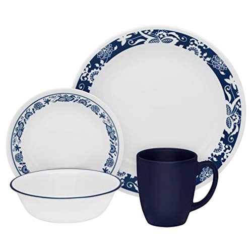 16-Piece True Blue Dinnerware Set - EK CHIC HOME