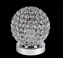 Load image into Gallery viewer, Crystal Silver Ball Table Lamp Bulb Included - EK CHIC HOME