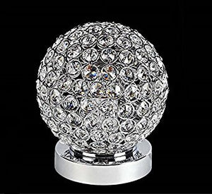 Crystal Silver Ball Table Lamp Bulb Included - EK CHIC HOME