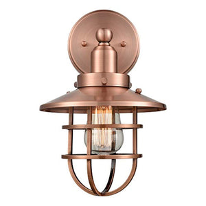 Industrial Vintage Wall Sconce Light with Bulbs, Antique Copper Finish Wall Lights, 2-Pack - EK CHIC HOME