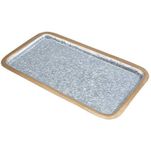 Load image into Gallery viewer, Decorative 16-Inch Rectangular Galvanized Metal Platter - EK CHIC HOME