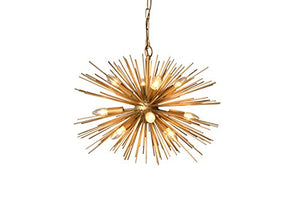 Light Chandelier in Gold Finish - EK CHIC HOME