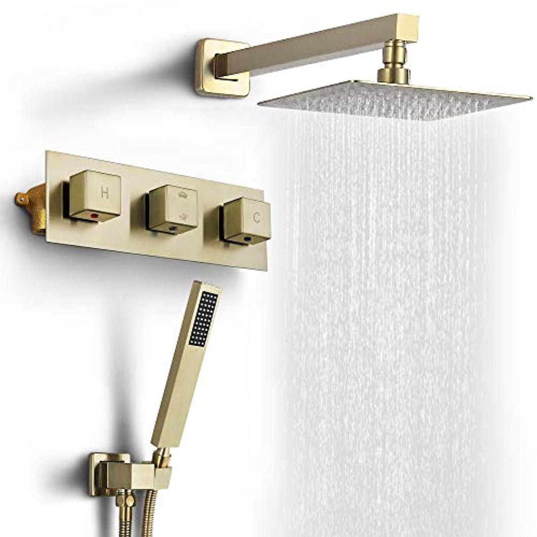 Shower Faucet Set Wall Mounted Rain Shower System High Pressure 8