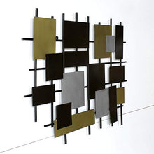 Load image into Gallery viewer, Extra Large 40 inch Metal Squares Wall Sculpture - EK CHIC HOME