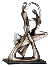 "Load image into Gallery viewer, Silver Abstract 14 3/4"" High Dancing Couple Sculpture - EK CHIC HOME"