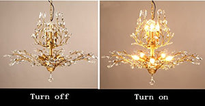 7-Light Vintage Crystal Chandeliers Ceiling Lights LED Light - EK CHIC HOME
