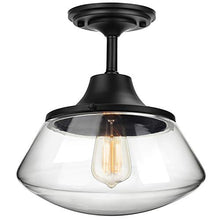 Load image into Gallery viewer, Industrial Semi Flush Mount Ceiling Light, Farmhouse Lighting - EK CHIC HOME
