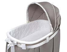 Load image into Gallery viewer, Oval Rocking Baby Bassinet with Bedding, Storage, and Pad - EK CHIC HOME