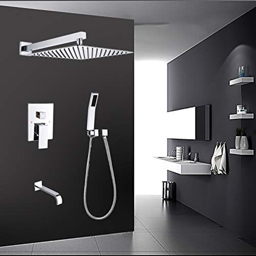 Shower System With Tub Spout,Tub Shower Faucet Set - EK CHIC HOME