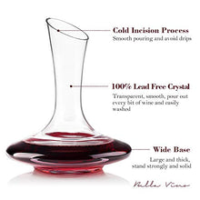 Load image into Gallery viewer, 100% Lead-Free Hand Blown Crystal Glass Wine Decanters - EK CHIC HOME