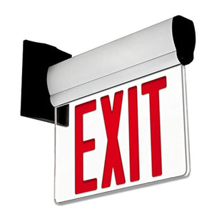 LFI Lights - UL Certified - Hardwired Edge Light Red LED Exit Sign - EK CHIC HOME