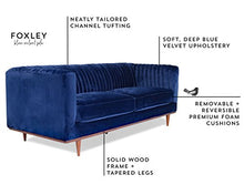 Load image into Gallery viewer, Luxury Midcentury Modern Sofa Blue - EK CHIC HOME