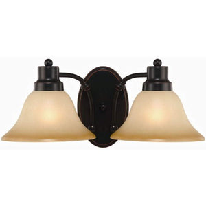 2 Light Oil Rubbed Bronze 7-1/2 Inch by 16 Inch Wall Lighting Fixture - EK CHIC HOME