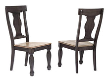 Load image into Gallery viewer, 9 Piece Charcoal & Oak Wood Dining Room Set, Extendable Table & 8 Chairs - EK CHIC HOME